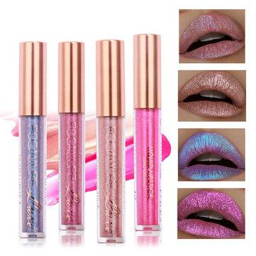 FOCALLURE Glitter Color Pearl Lip Gloss