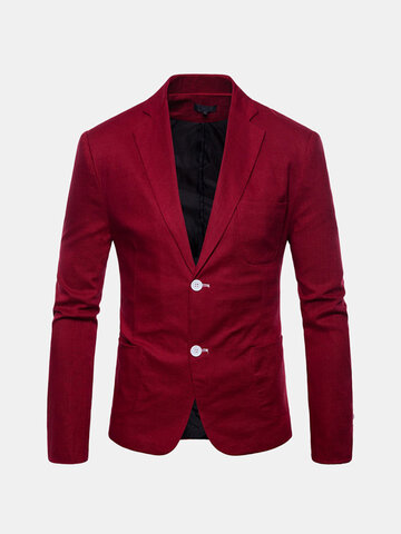 Slim Fit Casual Solid Blazer Suit