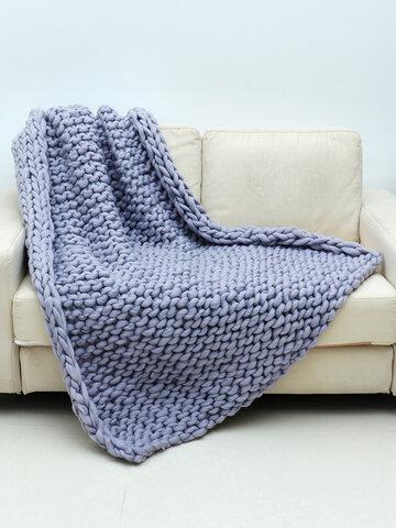 120*150cm Soft Warm Hand Chunky Knit Blanket