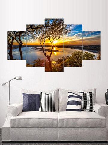 5PCS Ocean Unframed Landscape Modern Canvas Wall Art Oil Print Painting Living Room Home Decor