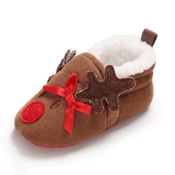 Baby Toddler Shoes Cute Christmas Warm Snow Boots