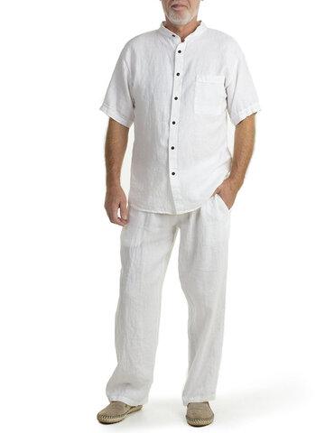 Ensembles de chemises en coton et lin