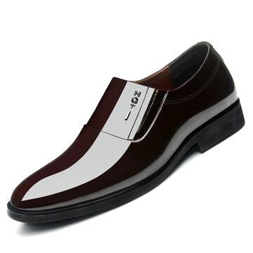 الرجال الجلود الانزلاق على السببية أحذية رسمية