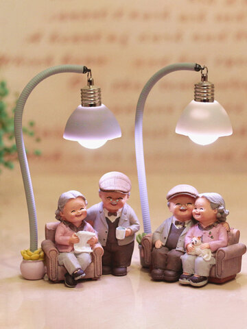 Creative Couple Night Light Ornaments Wedding Anniversary Gift Home Decor Romantic Ornament
