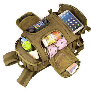 Men Outdoor Nylon Camera Backpack 35L Tactical Bag
