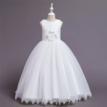 Girl's Lace Tulle Princess Dress For 6-12Y