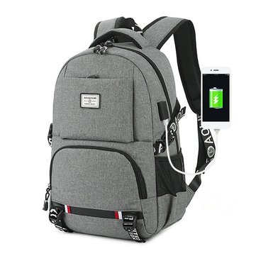 Business Casual USB Charging 18 Inches Laptop Bag Backpack