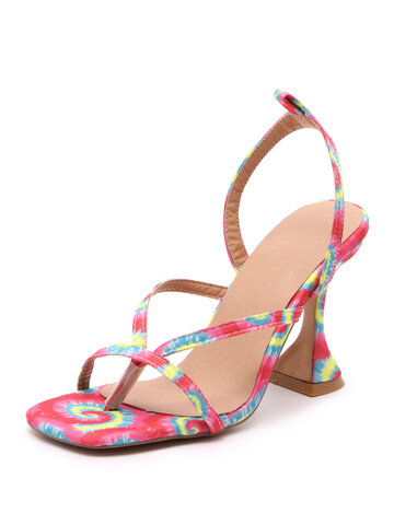 Fashion Colored High Heel Sandals