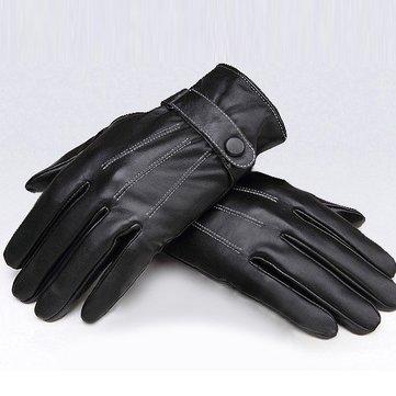 Gants de protection couverts de vélo noirs pour hommes en cuir PU avec coupe-vent