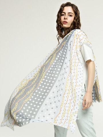 Sunscreen Silk Dot Printed Scarf Beach Towel Shawl