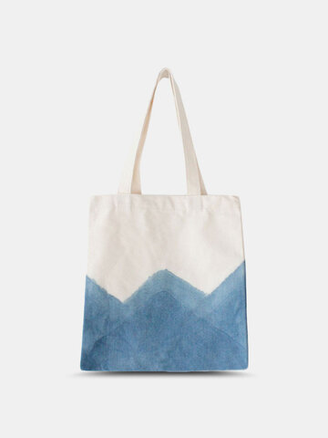 Canvas Blue Patchwork Tote