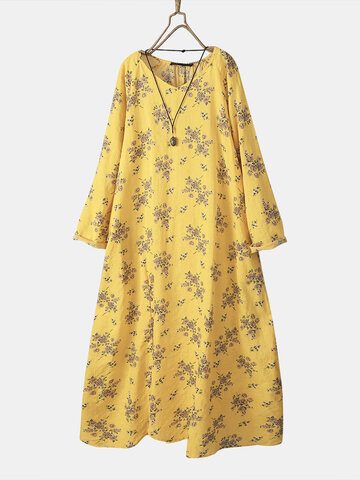 Floral Printed Button Maxi Dress