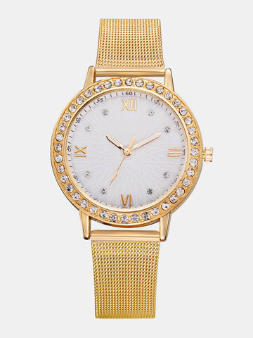 Classic Steel Band Womens Watches
