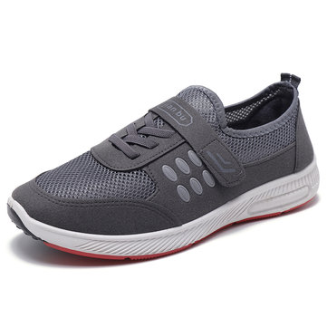 Men Mesh Splicing Light Weight Walking Shoes