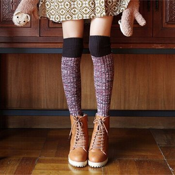 Thicken Wool Cotton Over Knee Long Socks