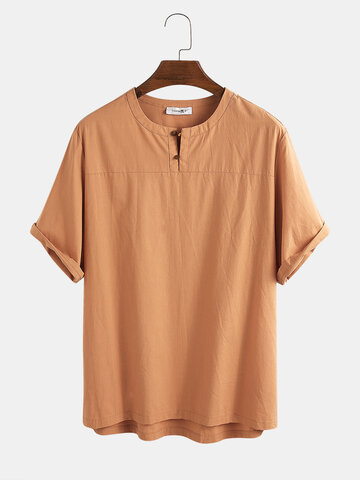 100% Cotton Solid T-shirt