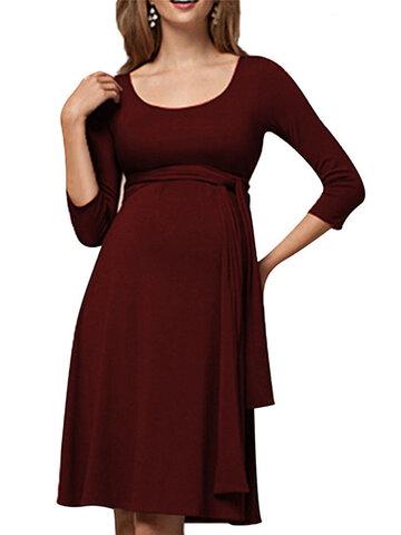 Maternity Nursing Dress With Waistband