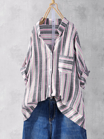 Muticolor Striped Casual Shirt