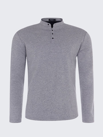 Mens Thick Solid Coton Casual T-Shirt фото
