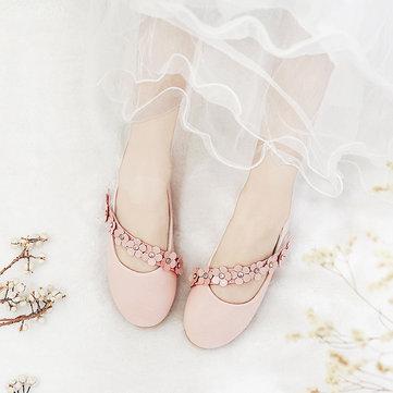 लड़कियों ठोस रंग फूल राजकुमारी जूते