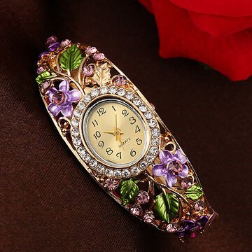 Vintage Crystal Flower Watch