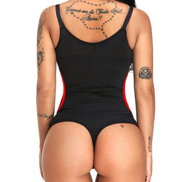 Plus Size Latex Regulate Fat Thong Cincher Shapewear
