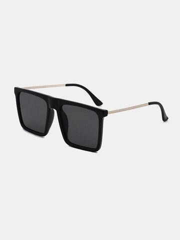 Men Square Frame Narrow Side Sunglasses