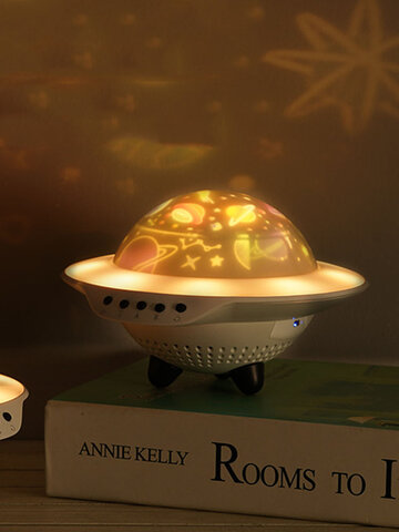 1PC LED UFO Shape Romantic Fancy Starry Sky Projector Lamp Colorful Night Light Home Decor Gift