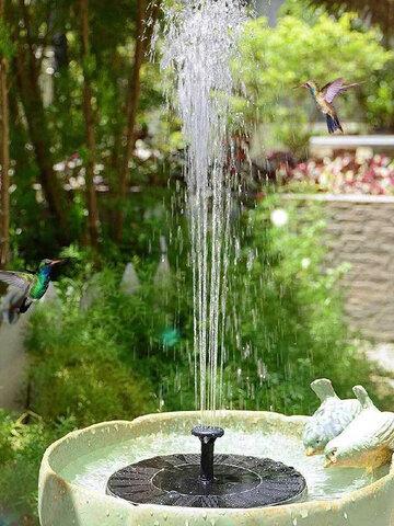 13/16/18cm Floating Solar Power Garden Bird Bath Fountain Multifunction Pond Pool Water Pump Fountain