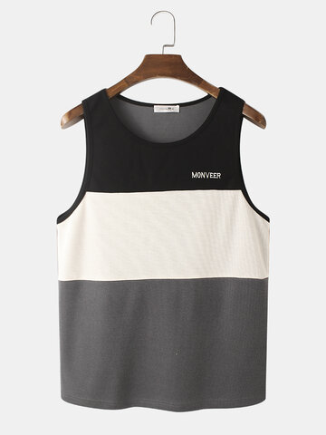 Patchwork Embroidered Knit Tanks