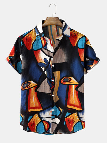 Abstract Geo Printing Shirts