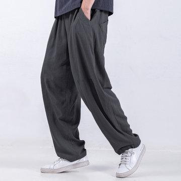 Свободные брюки из хлопка