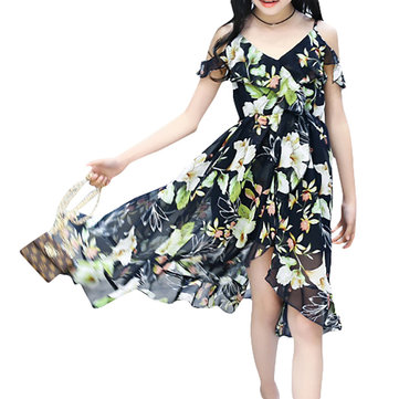 Bohemian Floral Girls Dress 6Y-15Y