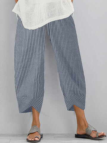 newchic / Striped Patchwork Casual Pants