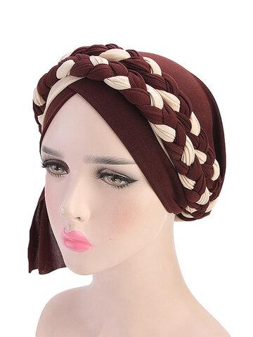 Women Soft Embroidered Headband Multicolor Twist