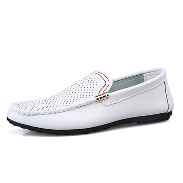 Men Hollow Out Comfy Loafers