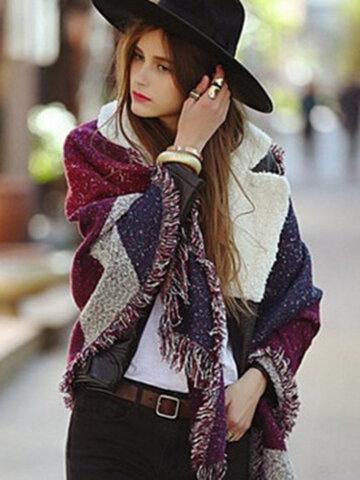 Women Artificial Cashmere Warm Shawl Scarves