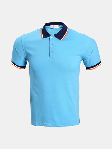 Casual Breathable Solid Color Golf Shirt