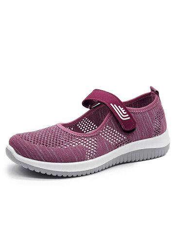 Mesh Hook Loop Light Shoes