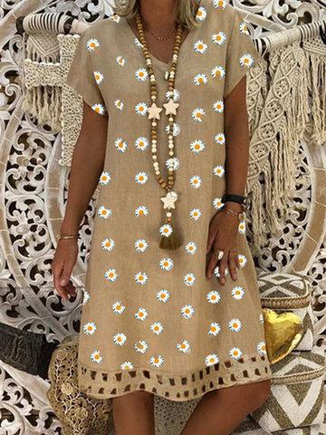 Daisy Printed Mini Dress