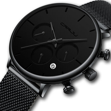 Men Simple Atmospheric Dial Watch