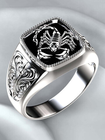 Scorpio Embossed Men Ring