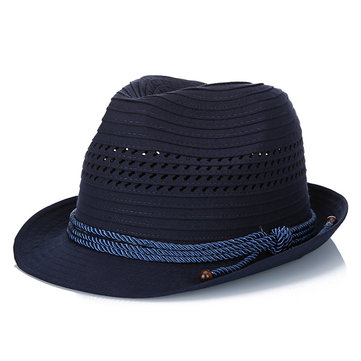 Polyester Solid Stripe Jazz Hat