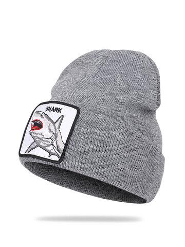 Wool Hat Animal Pattern Knitted Hat Skull Cap Beanie