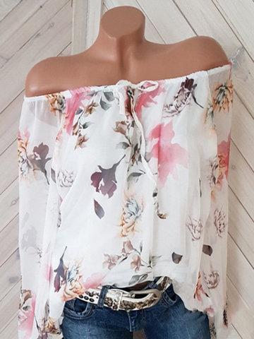 Floral Printed Chiffon Shirt