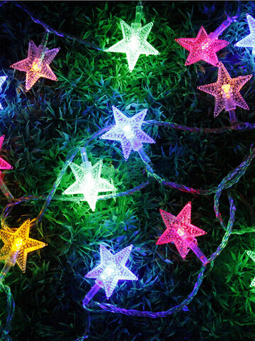 5M 28 LED Pentagram String Fairy Light Multicolor Wedding Party Home Decor 220V