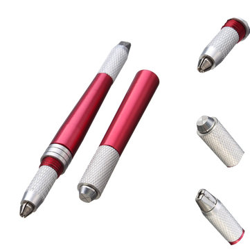 1Pc 3 Heads Eyebrow Tattoo Pen Red Professional Permanent Makeup Manual