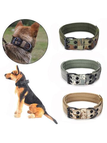 Five Gear Adjustment Pin Buckle Dog Collar Tactical Dog Collar Medium And Large Dog Training Dog Collar Nylon