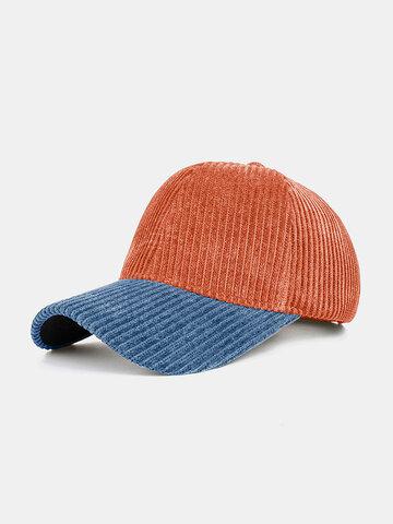 Collrown Men & Women Corduroy Contrast Color Casual Baseball Hat