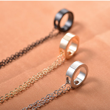 Ring Pendant Couple Necklace